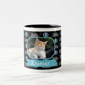 Mouse Male Cat Name and Photo Coffee Mugs