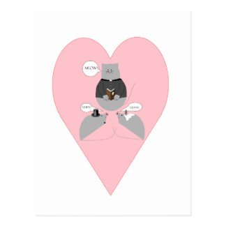 Mouse Marriage Postcard