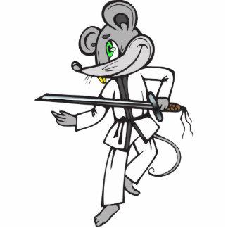 Mouse Martial Arts Standing Photo Sculpture