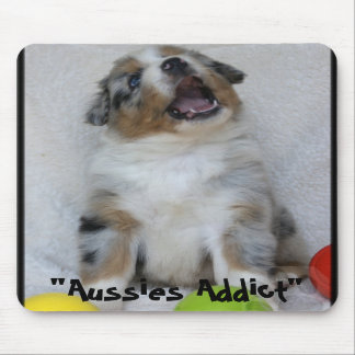 """Mouse mat """"Baby Aussies Addict """" Mouse Pad"""