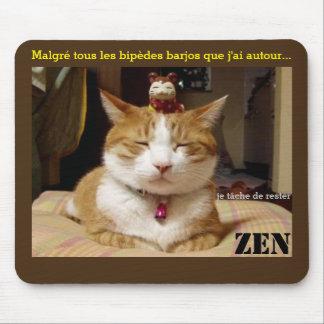 """mouse mat """"cat Zen """""""