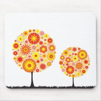 Mouse Mat - Flower Wishing Tree Orange Mouse Pad
