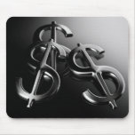 Mouse mat on black bottom finances and dollar mouse pad