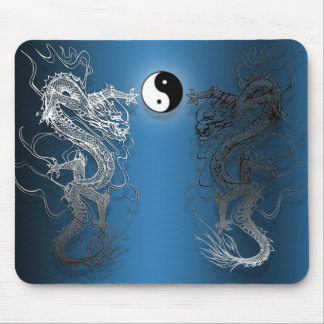 Mouse mat the ying and yang dragons mousepads