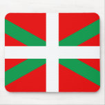 """Mouse mat with Flag Basque """"Ikkurina """" Mouse Pad"""