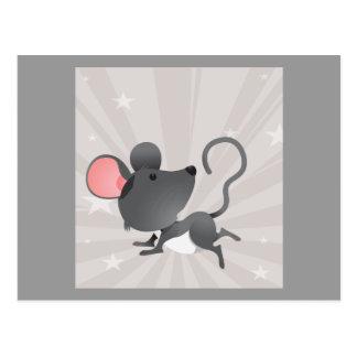 Mouse Mice Rat Rodents Mammal Cute Cartoon Animal Postcard