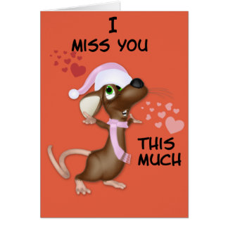 Mouse Miss You Note Card