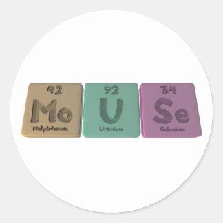 Mouse-Mo-U-Se-Molybdenum-Uranium-Selenium.png Classic Round Sticker