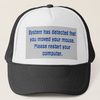 Mouse Moved Error Code Trucker Hat