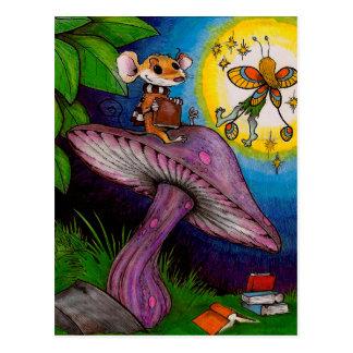 Mouse + Mushroom = Fairy Post Cards