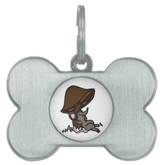 Mouse & Mushroom Pet Tag