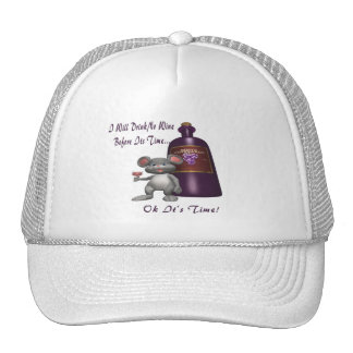 Mouse- No Wine Before Its Time Trucker Hat