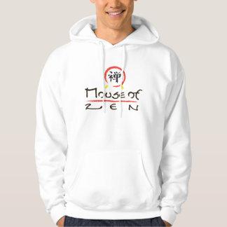 Mouse Of Zen White Hoody