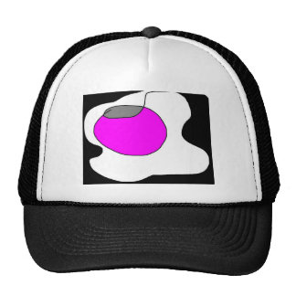 Mouse on a circle trucker hat