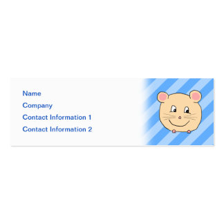 Mouse on Blue Stripes. Business Card Templates