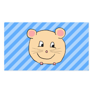 Mouse on Blue Stripes. Business Card
