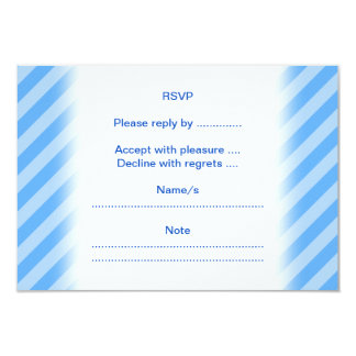 Mouse on Blue Stripes. 3.5x5 Paper Invitation Card