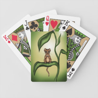 mouse on plant bicycle playing cards