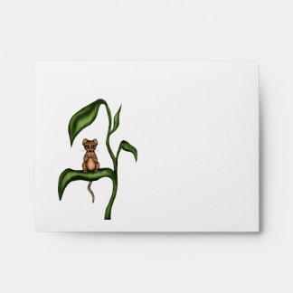 mouse on plant envelopes