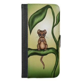mouse on plant iPhone 6/6s plus wallet case