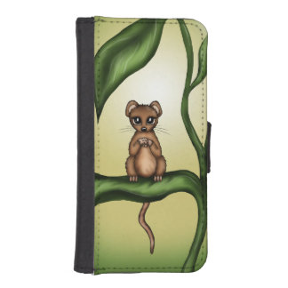 mouse on plant iPhone SE/5/5s wallet