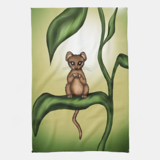 mouse on plant kitchen towels