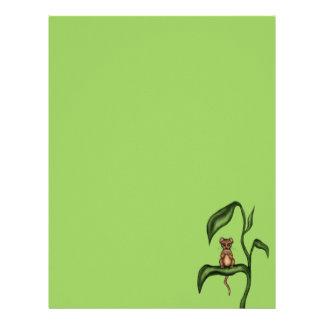 mouse on plant letterhead