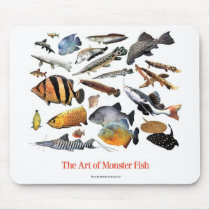 Mouse pad 2 of large-sized tropical fish