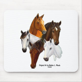 Mouse Pad, 5 Horse Heads Mouse Pad