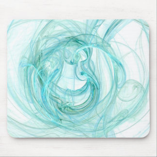 Mouse Pad: Aqua Unique Abstract Fractal Art! Mouse Pad