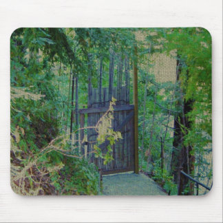 Mouse Pad - Bamboo Gate in Forest Garden
