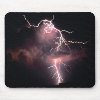 **MOUSE PAD - Black Lightning scenic Computer Mat
