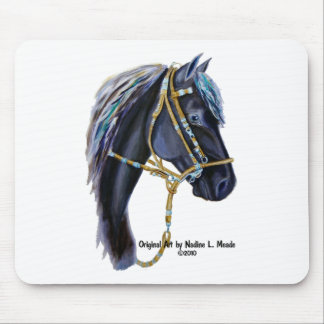 Mouse Pad, Black Peruvian Horse Head Mouse Pad