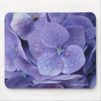 mouse pad - blue hydrangeas