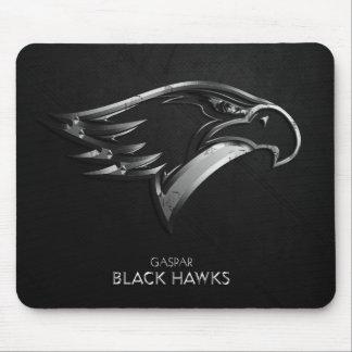 Mouse pad Caspar Black Hawks