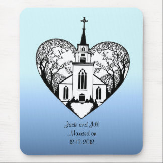Mouse Pad - Church + Steeple in a Heart