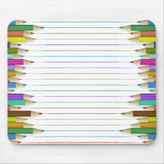 Mouse Pad - Colored Pencil Lines