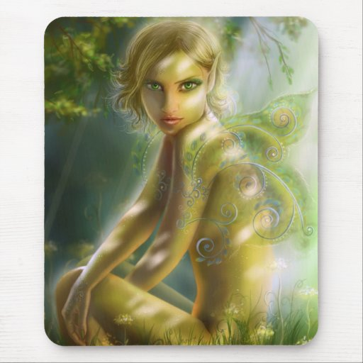 """Mouse Pad  """"Elf in wood """""""