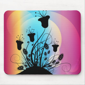 Mouse Pad  -  Floral Silhouette