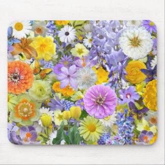 Mouse Pad - Flowers and Butterflies