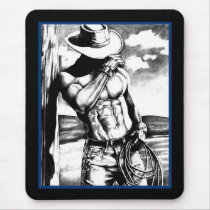 Mouse Pad For Him Masculine Cool Cowboy Art