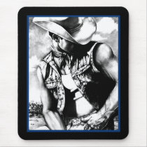 Mouse Pad For Him Masculine Western Cowboy Art