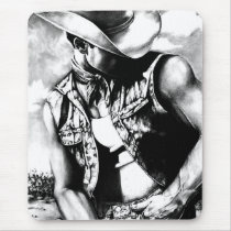 Mouse Pad For Him Western Cowboy Masculine  Art