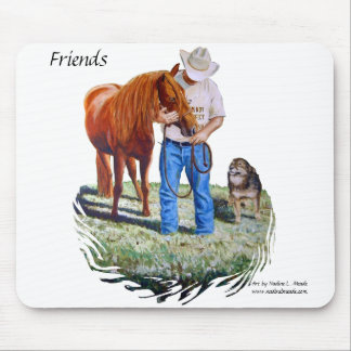 Mouse Pad Friends Larry Chica and Cindy