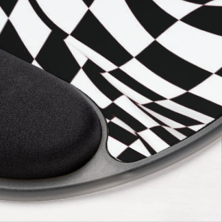 Mouse Pad - Gel - Modified Checkered Flag Gel Mouse Pad