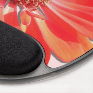 Mouse Pad - Gel - Red Zinnia Gel Mouse Pad