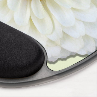 Mouse Pad - Gel - White Zinnia Gel Mouse Pad