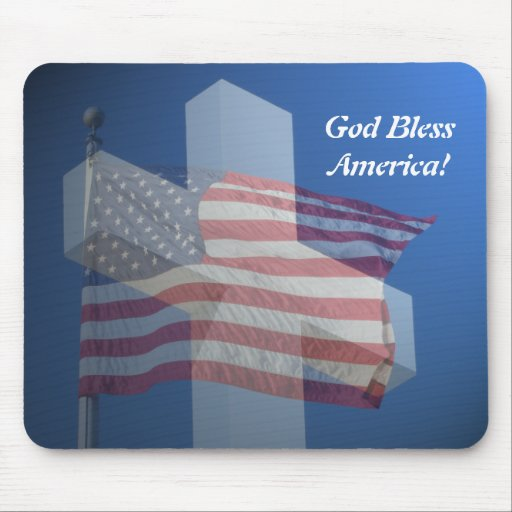 Mouse pad, God bless America!