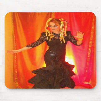 mouse pad goth rave cyber girl