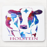 Mouse Pad Holstein Cow in Purple & Blues